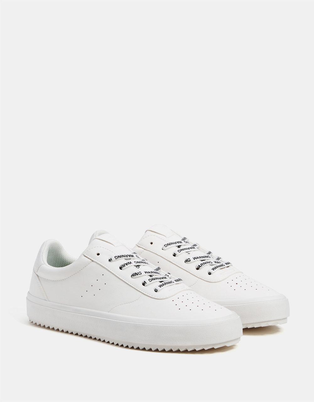 Monochrome Sneakers, £25.99 ( Bershka )