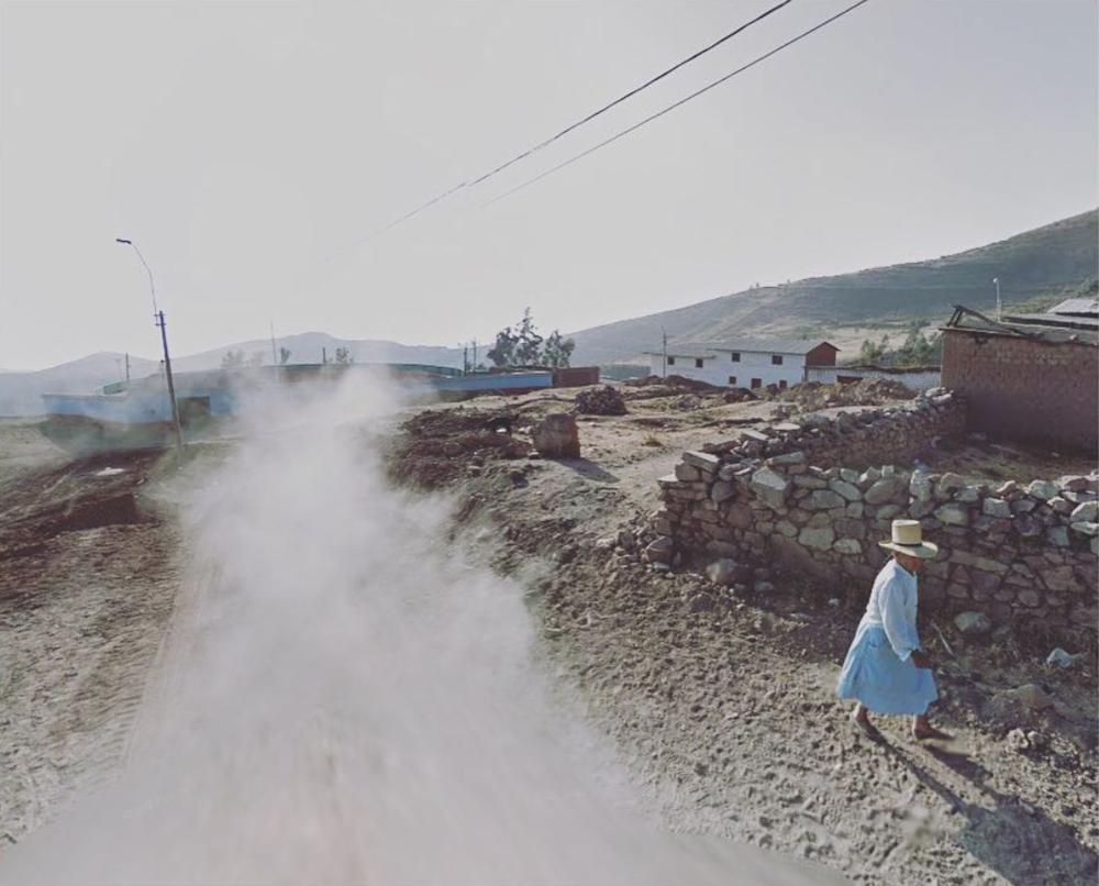 Jacqui Kenny, Google Street View Scene - Google car dust, Peru.  2017