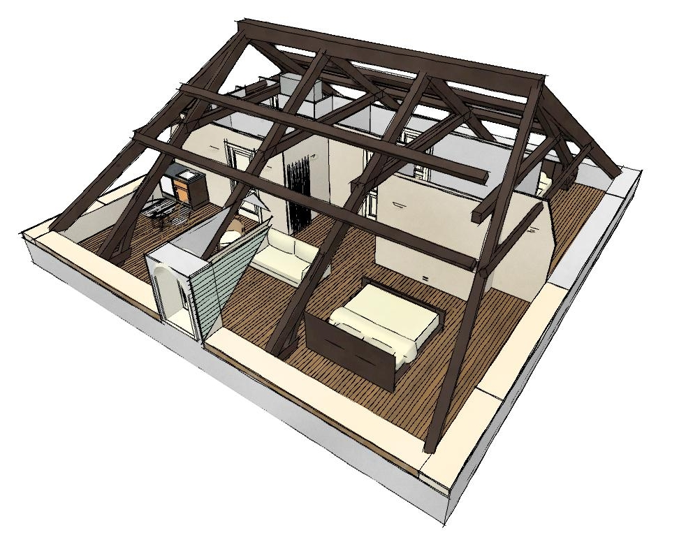 attic conversion to 2 appartments