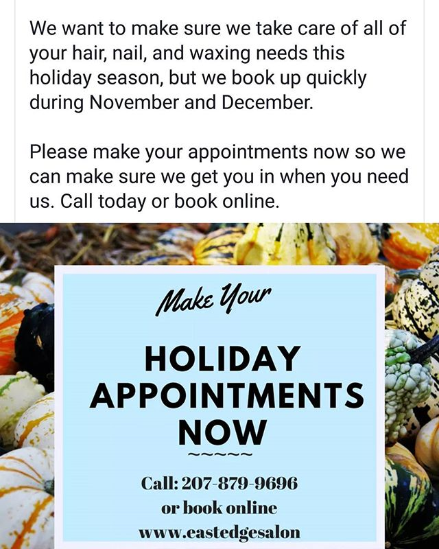 #bookyourappointmentsnow #holidaysarecoming #portlandmaine #eastedgesalon #eastend #portlandstylist. #thanksgivinghair #christmashair