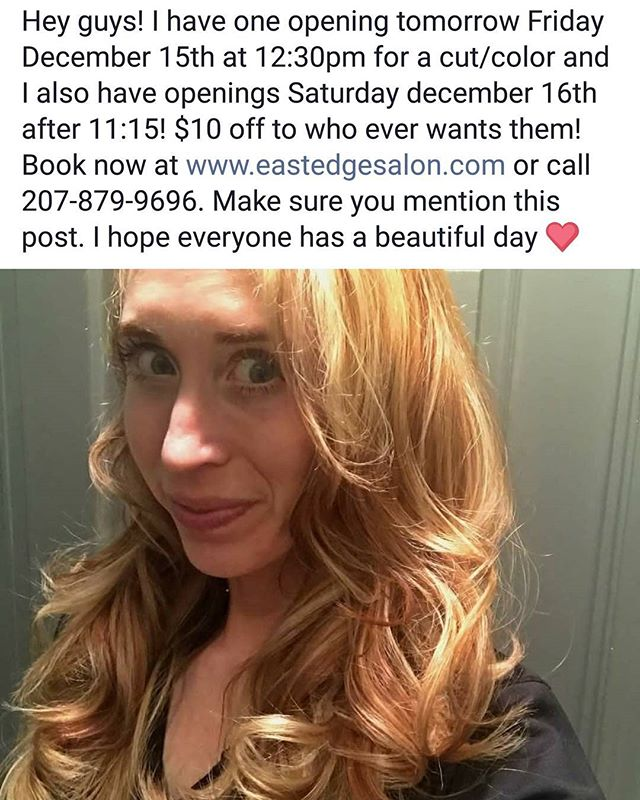 #$10offanyservice #eastedgesalon #stawberryblonde #portlandmaine #mainestylist #beauty