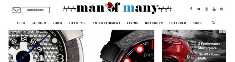 Man of Many Styles blog - 2nd December 2017
