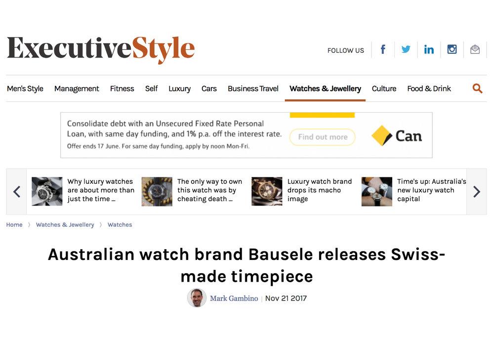 Bausele in the Sydney Morning Herald.