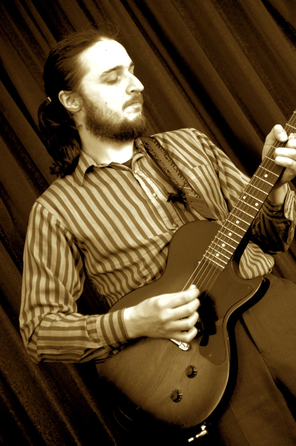 Dave Long, guitarist in When You're Smiling Jazz and Soul trio