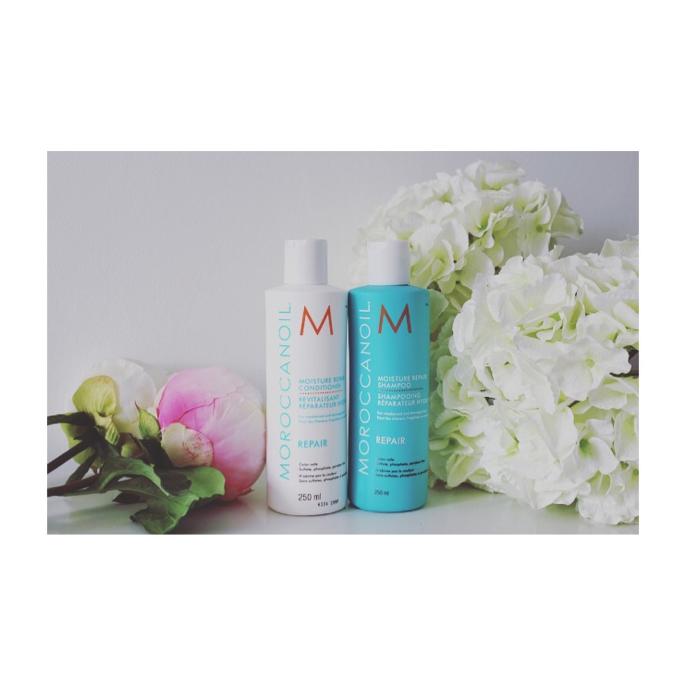 Moroccan Oil do shampoo and conditioners to suit different hair types, I love the moisture repair range.