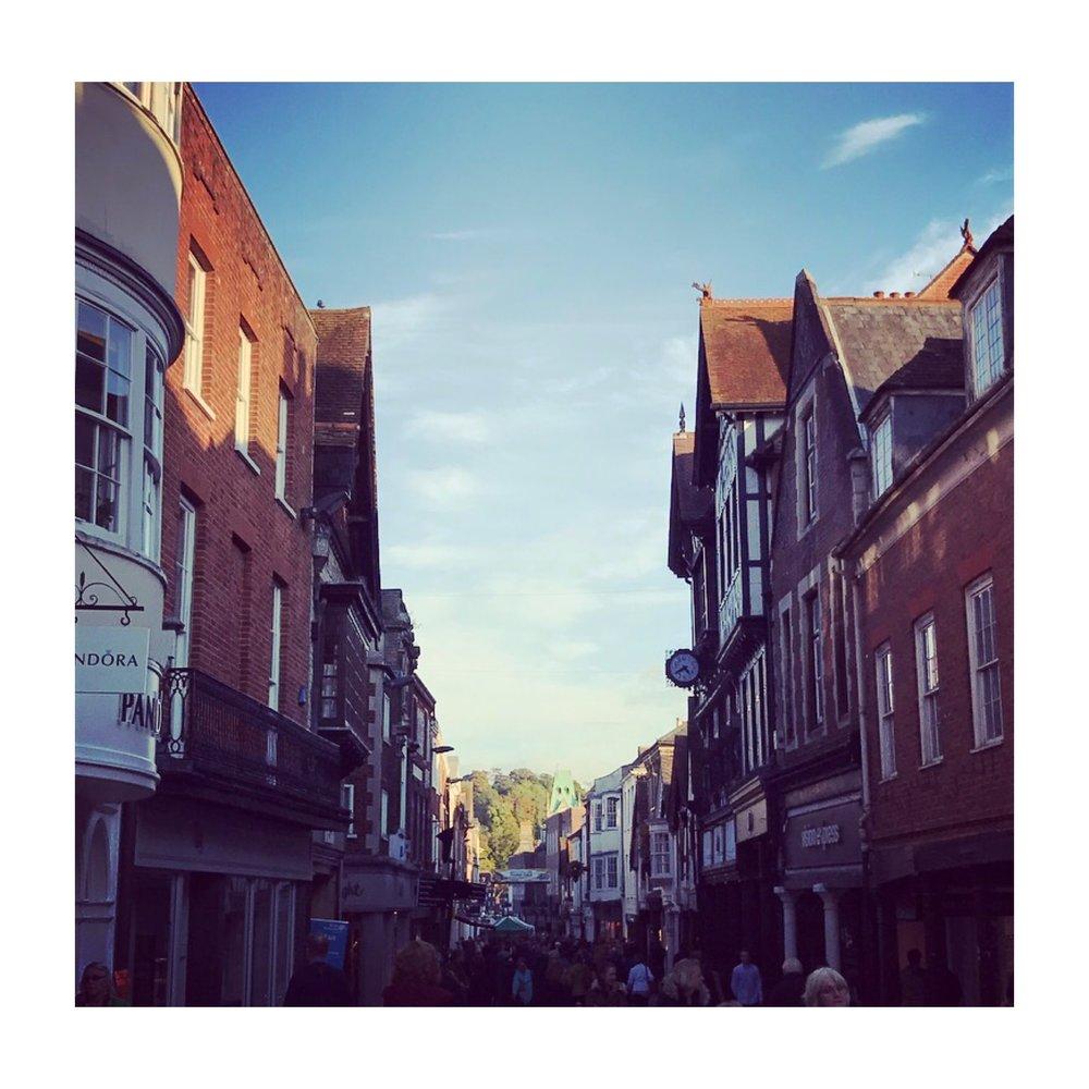 Pretty Winchester high street.