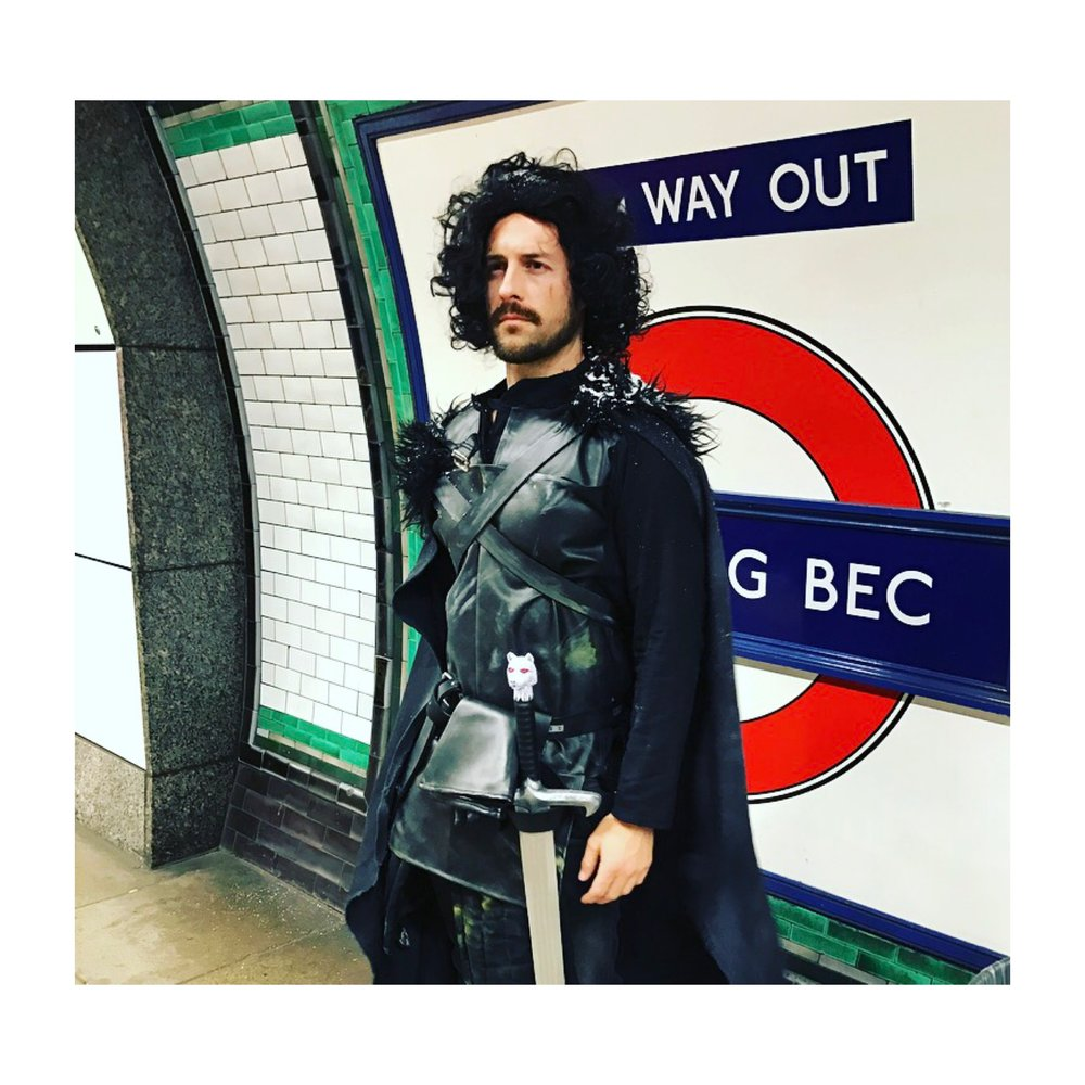 Jon Snow just hanging about Tooting Bec Station ...