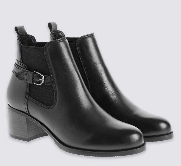 M&S - Mid hell ankle boot - £59