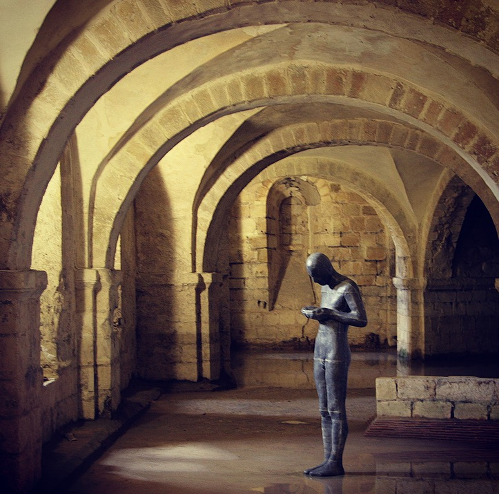 Anthony Gormley - Sound II in the Winchester Cathedral crypt