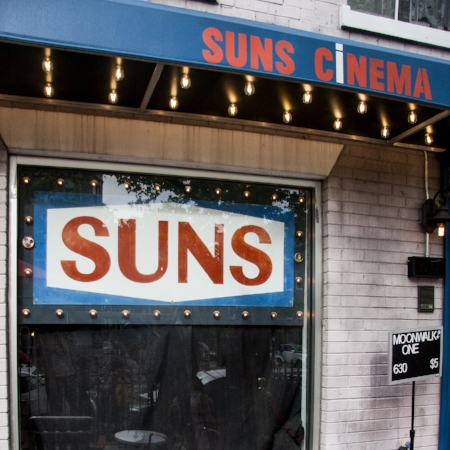 Suns Cinema, a bar and movie theater on Mount Pleasant Street.
