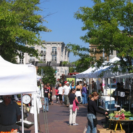 The Mount Pleasant farmer's market in Lamont Park.