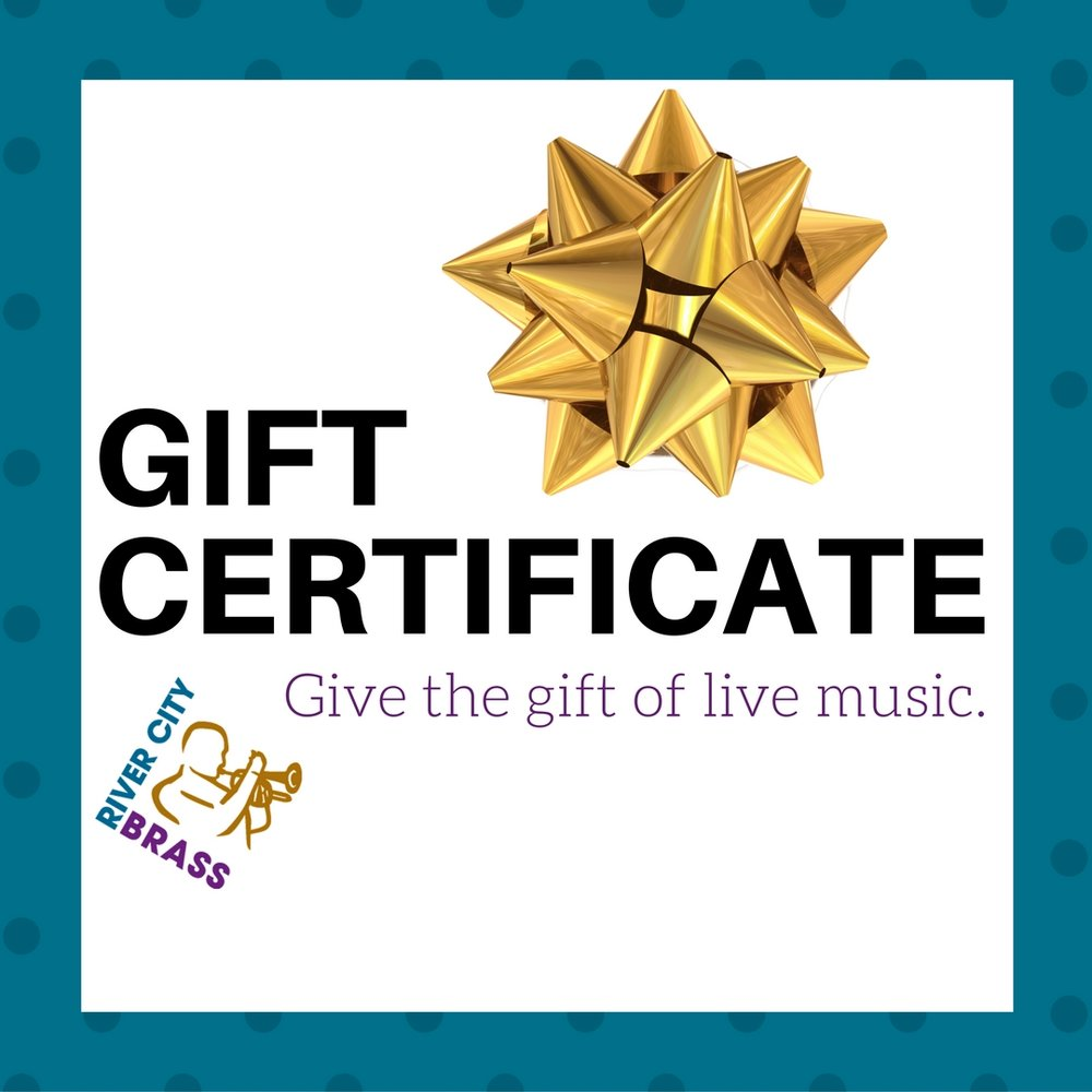 gift certificate river city brass