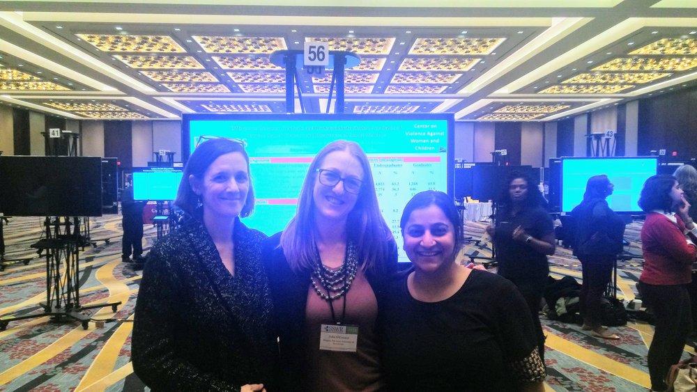 L-R:Dr. Sarah McMahon,Julia O'Connor,Sangeeta Chatterji