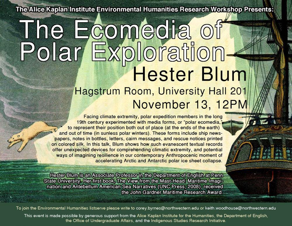 Alice Kaplan - Ecomedia, Hester Blum Talk Poster.jpeg