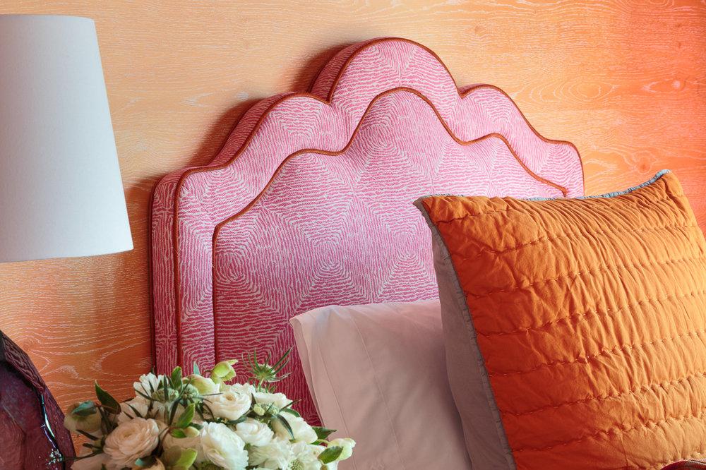 orange and pink girls room