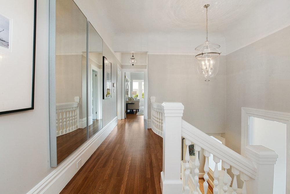 hallway in edwardian home