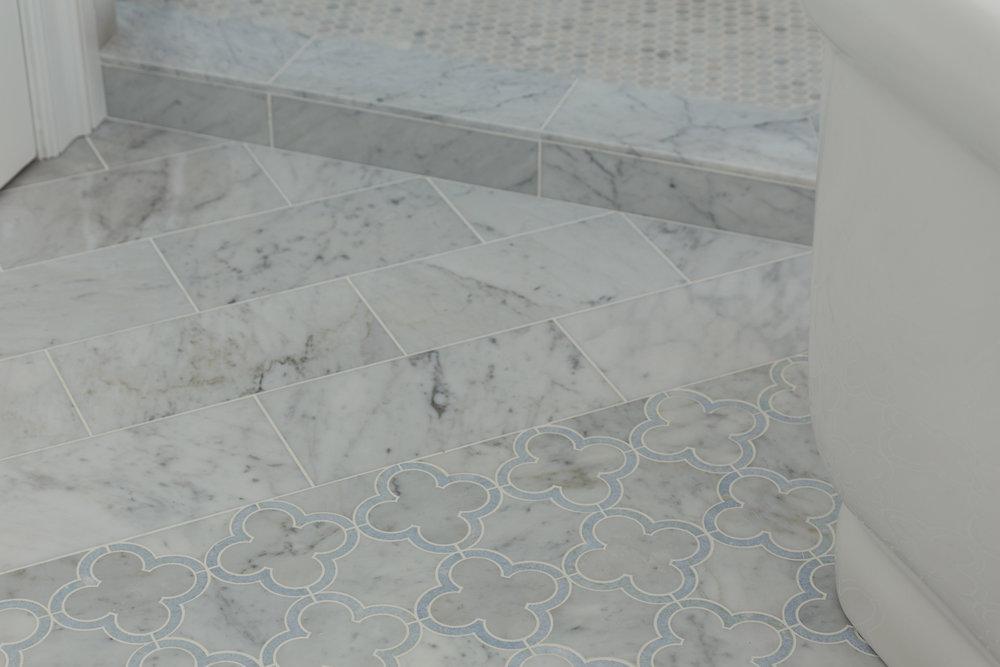 marble flooring detail