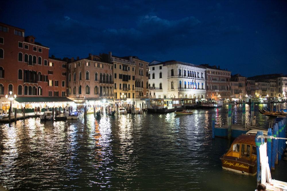 Buildings along the Italian canal