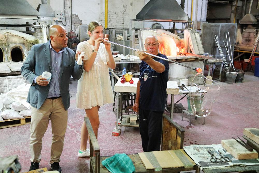 Glassblowing demonstration on Murano