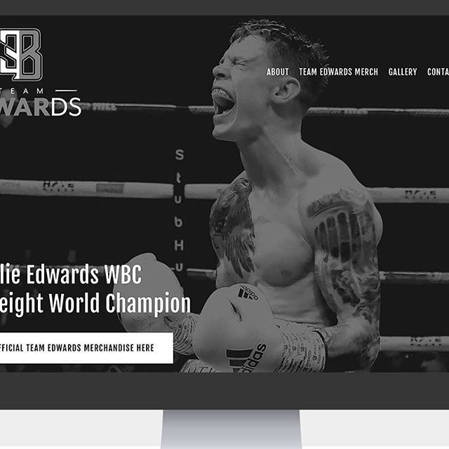 Loved working on this new site for an absolute legend. @cedwardsboxing . Hope you like it mate! . www.charlie-edwards.com