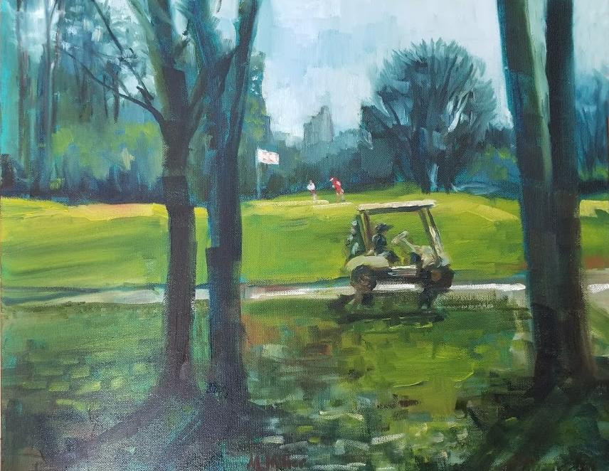 "Memorial Park - Oil - 20"" x 16"""