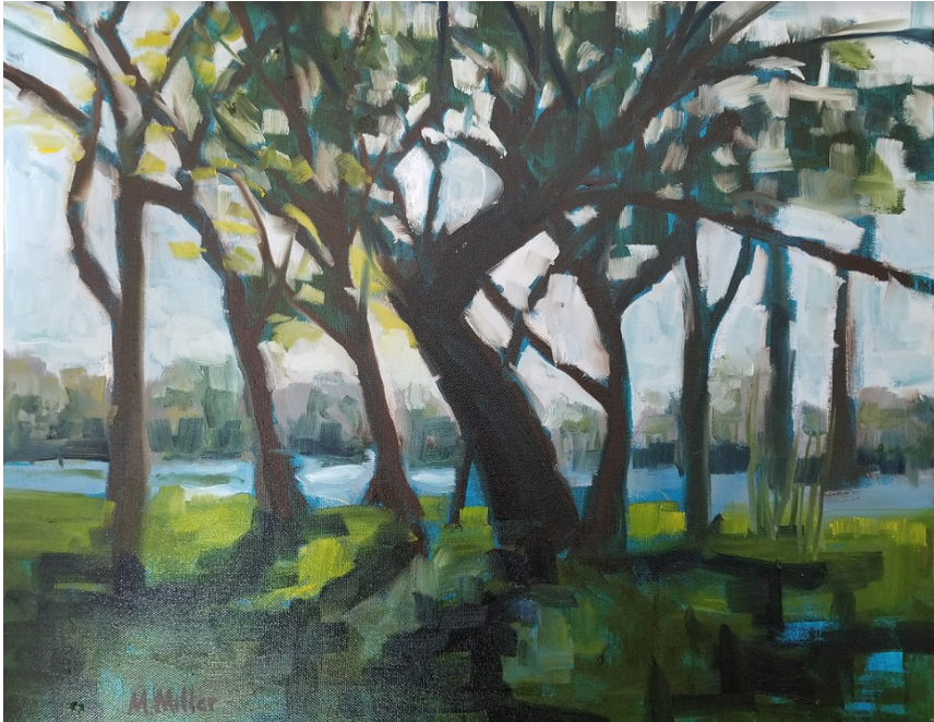 "Picnic Area   -  Oil  -  20"" x 16"""