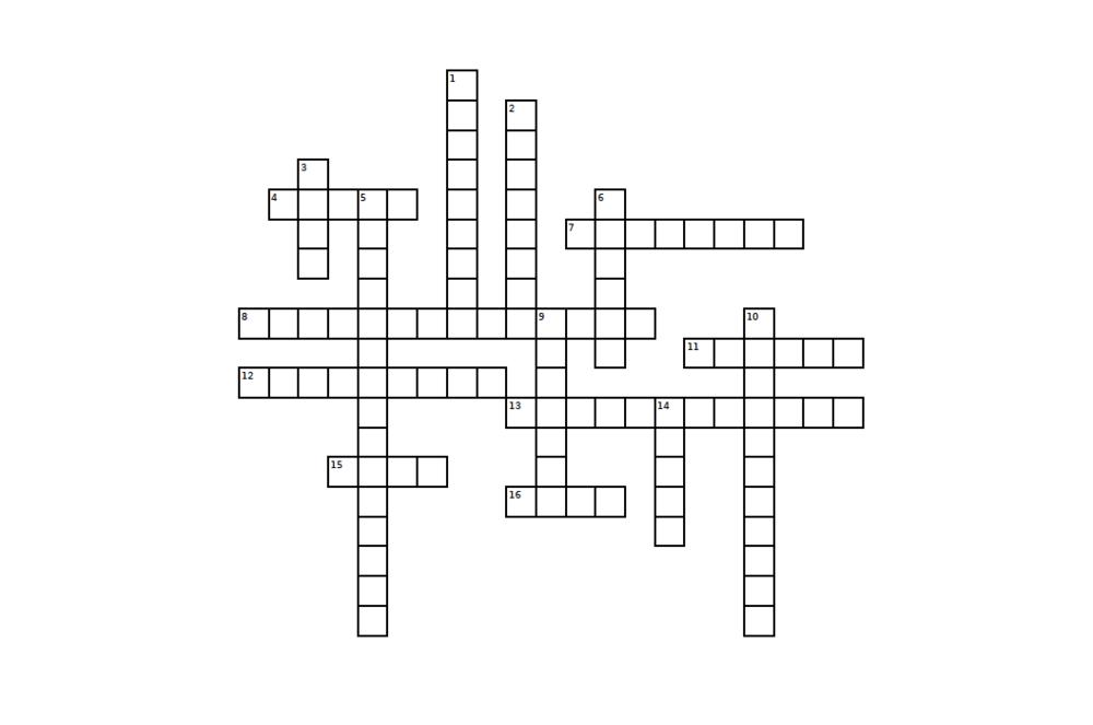 DOUBLE CROSSED: CROSSWORD PUZZLE