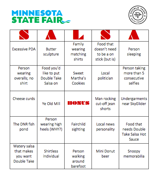 Double Take State Fair Bingo
