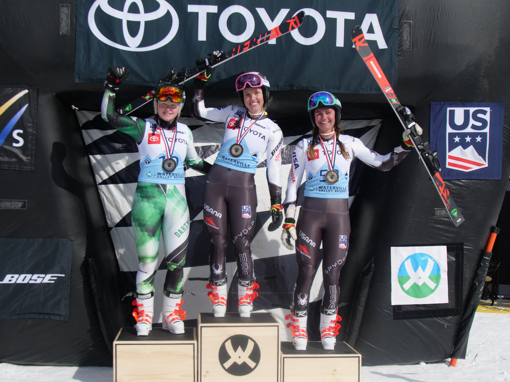 Woman's Podium: 1. Nina O'Brien  2. Stephanie Currie  3. Alice Merryweather