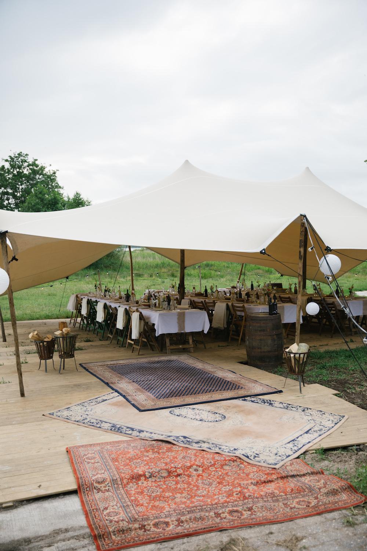 buiten bruiloft tent