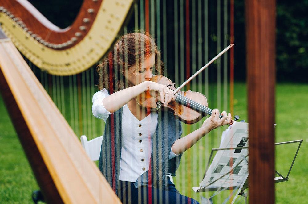 harp en viool bruiloft