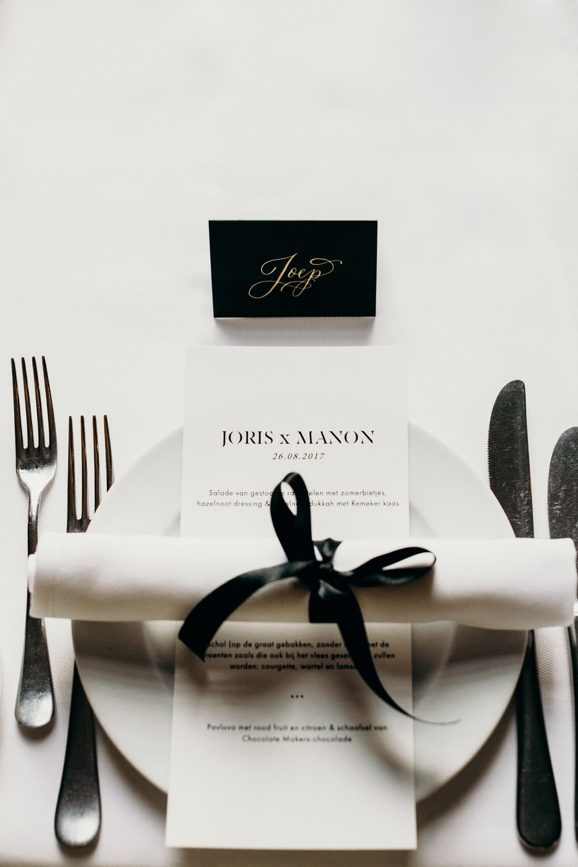 wedding menu graphic design