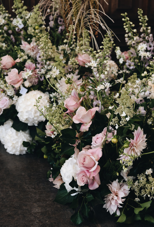 bloemen bruiloft rozen hortensias