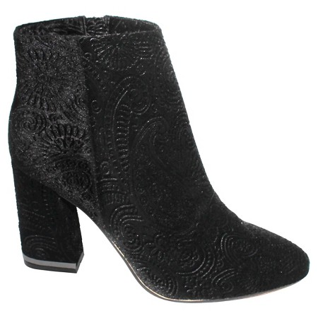 The details on these luxe velvet booties is amazing! And, they're only $45 which means you can get the dress and the boots.