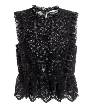 Pair this lace top with those leggings and be the hit of the party! Then, pair it with a blazer and some smart work pants and become Queen of the Conference Room.
