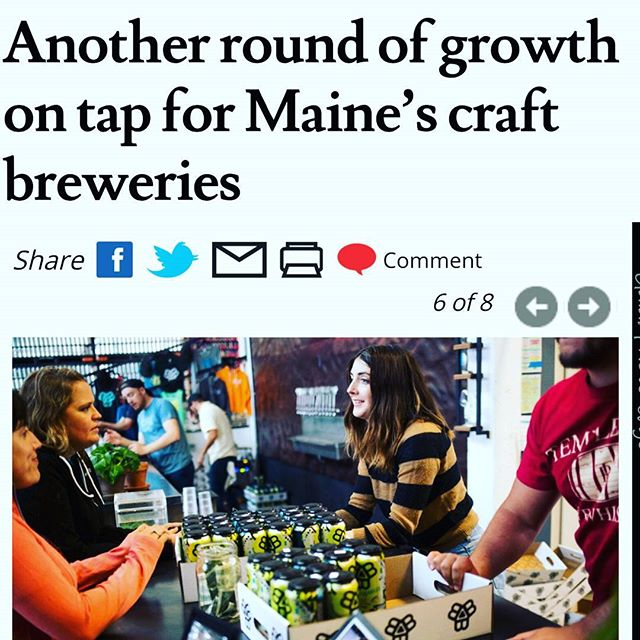Our own @samafaye front and center in the Press Herald article today! #mainebeer