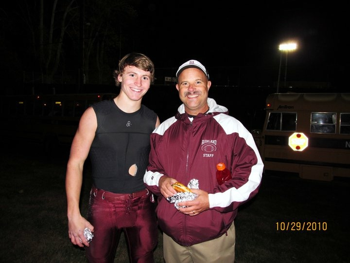 Coach Gregg & I, via 2010, with post-game cheeseburgers in hand. Great coach and even better human. Based off his smile, I'm assuming we won this game.