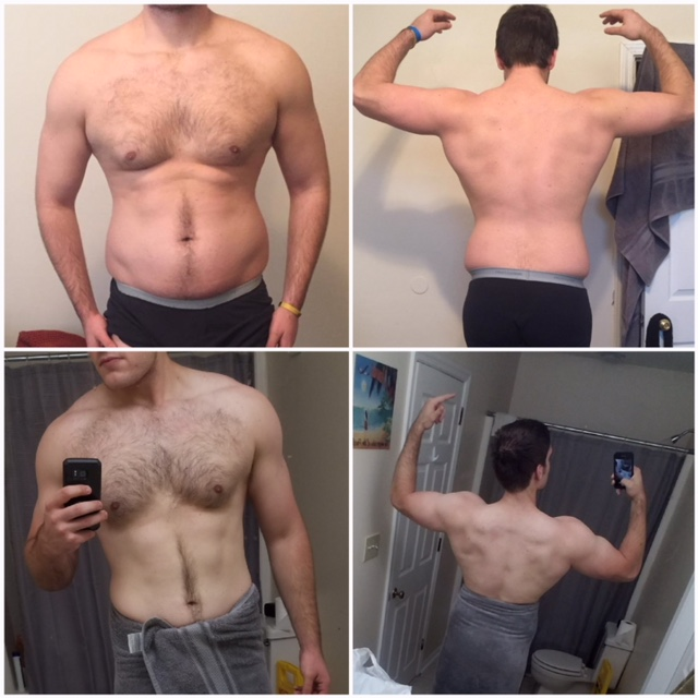 "In his words:   ""After 4 years of yo-yo dieting, trying to figure out the best routine, doing all the workouts on bodybuilding.com, I thought I knew it all and I was taking a shit ton of supplements.  Found out discipline, consistency, and your workouts did it man. Thank you. """