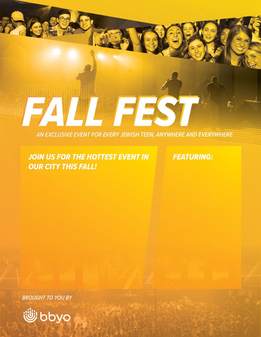 Flyer Template    Find flyer templates for any kind of Fall Fest event—charity rides, concerts, movie screenings, game nights, interactive dining or just general Fall Fest.
