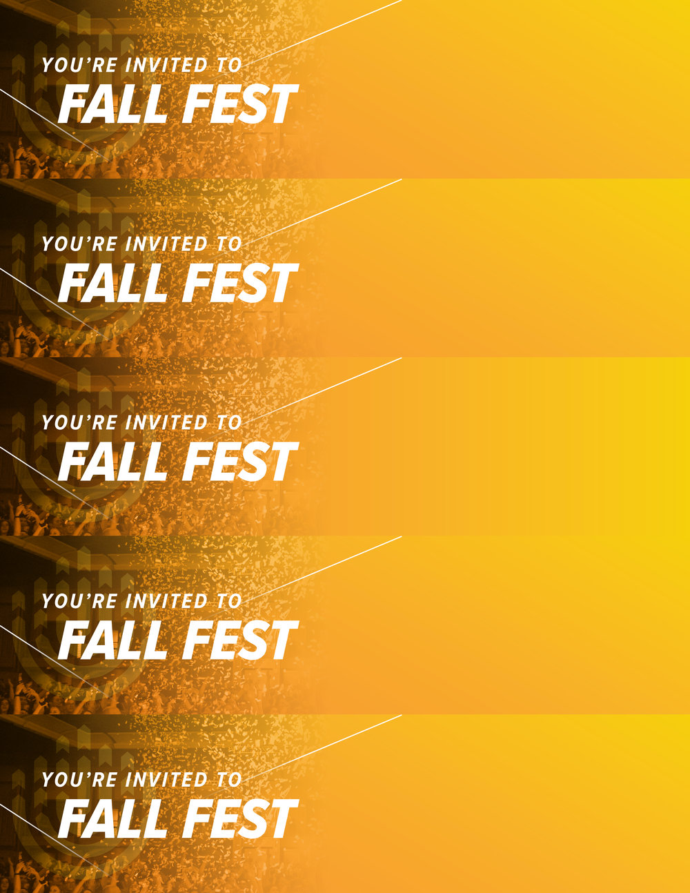 Promo Slips Template   Customize, cut them up and hand them out to all of your friends at school, practice and more to make sure everyone knows when your Fall Fest event is happening.