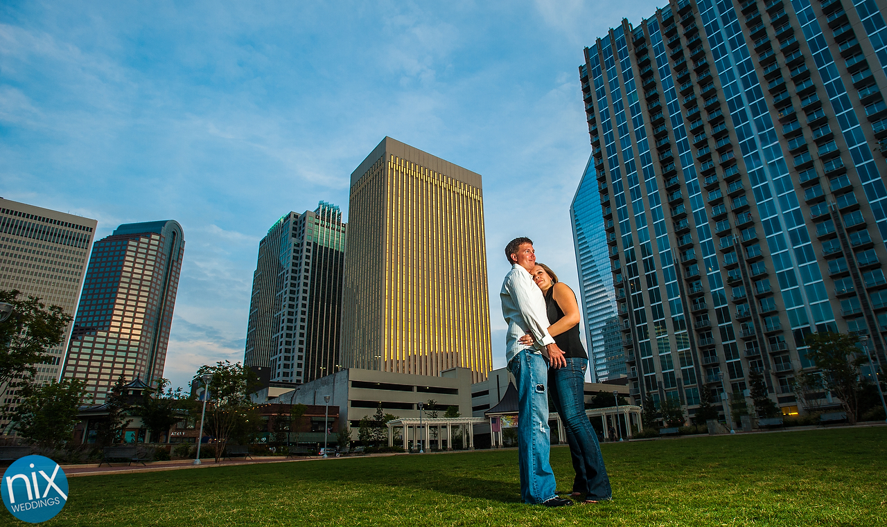 Kim and Mike engagement shoot. Charlotte Wedding Photographer by Nix Weddings