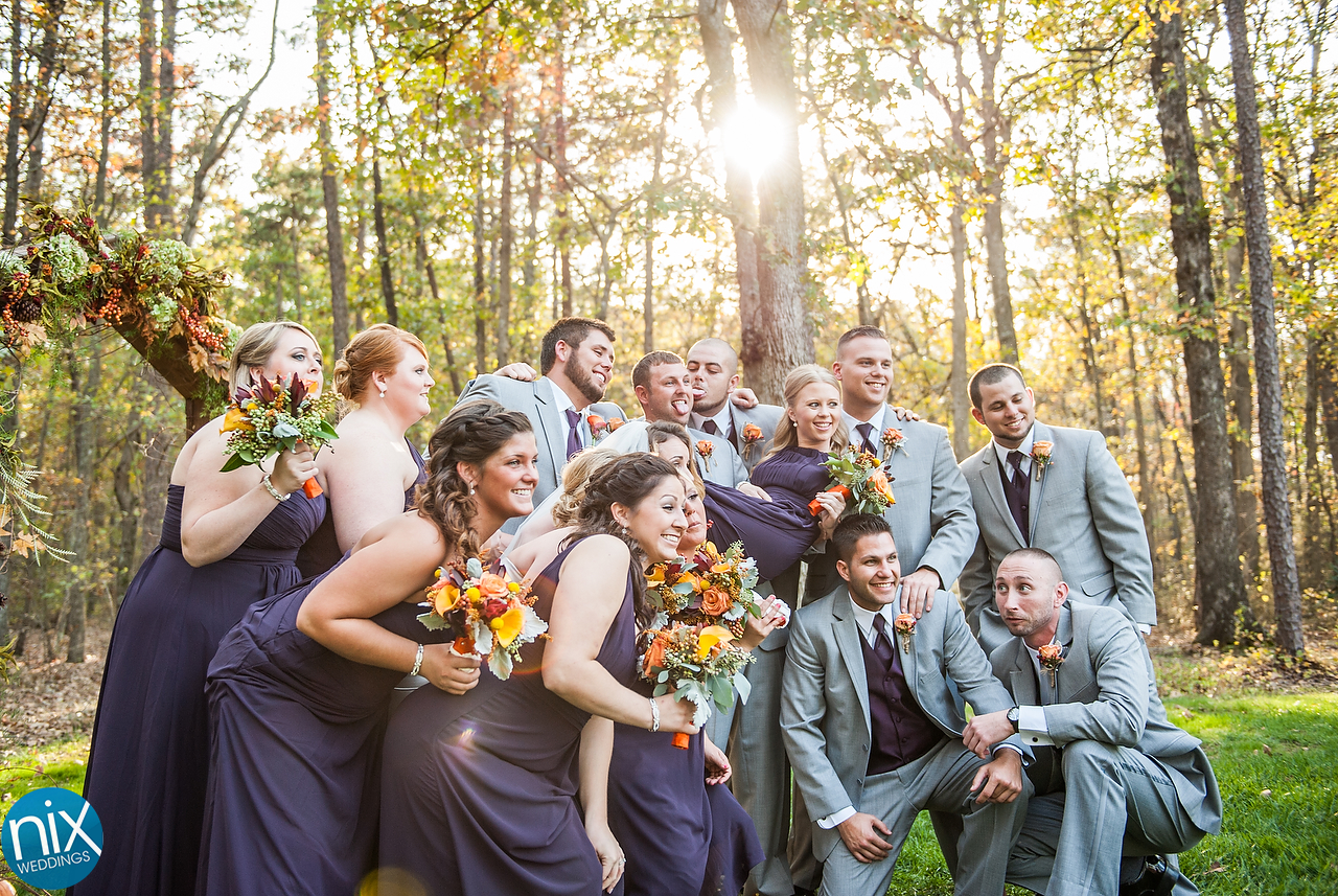Jillian and Colton wedding held on October 24, 2015 at Il Bella Il Bella Gardens in Albemarle, North Carolina.