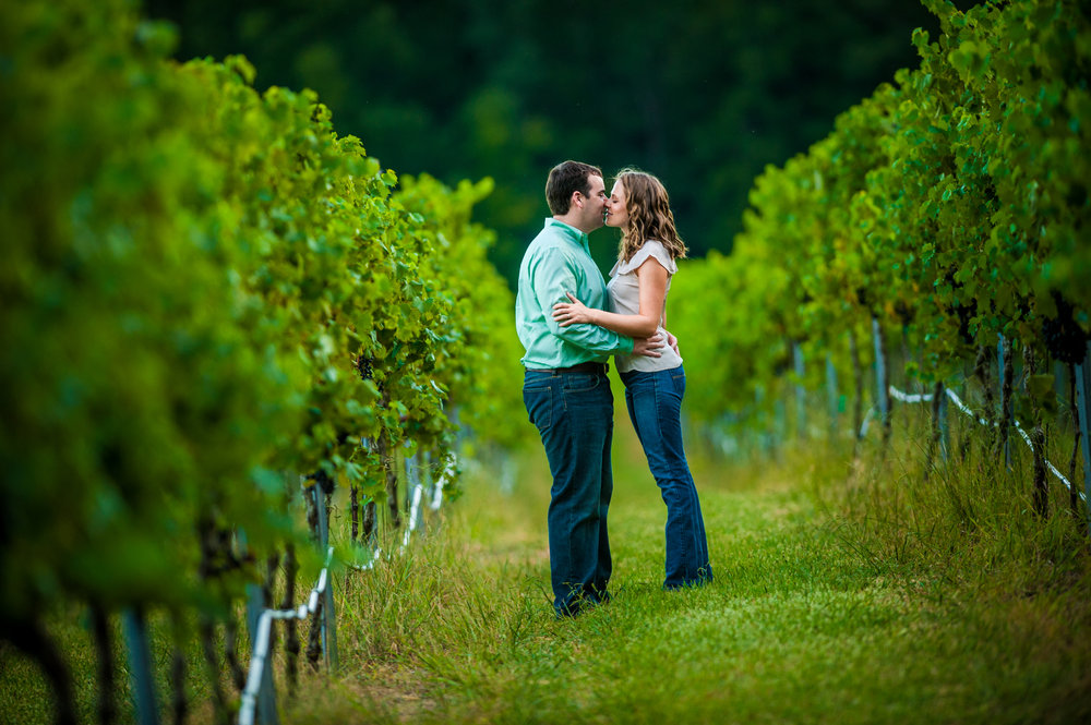 Vineyards - For the wine lovers, vineyards around the Charlotte area are a great spot for engagement photos. Local favorites include Dennis Vineyards, Childress Vineyards,  Morgan Ridge Vineyards, Daveste Vineyards. Many location do ask for a photo session fee. However, wine is often included!