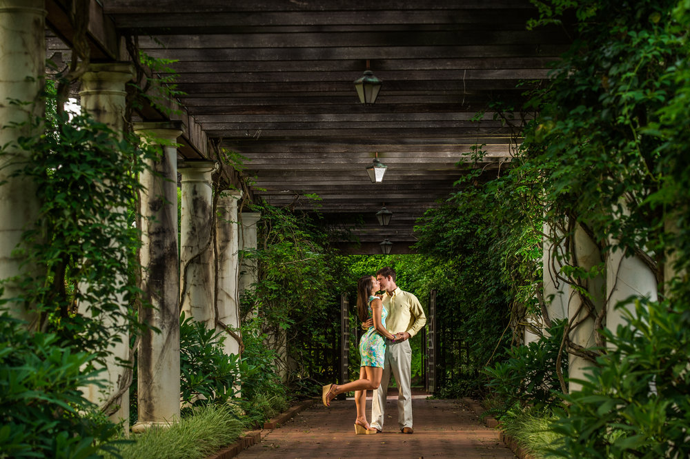 Daniel Stowe Botanical Garden - DSBG offers a great variety of garden backdrops for your engagement session. the garden does have a location fee, however it is included if you are using the garden as your wedding venue.