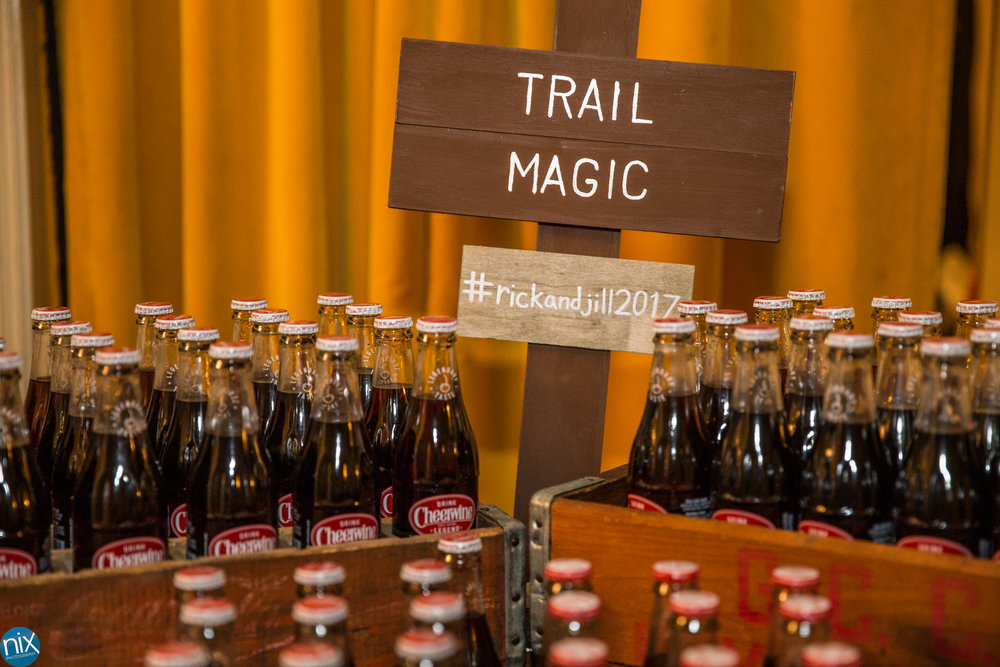 cheerwine bottles trail magic wedding.jpg