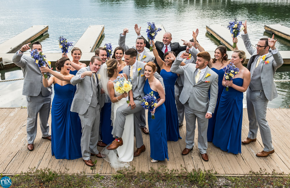 wedding party on lake norman dock.jpg