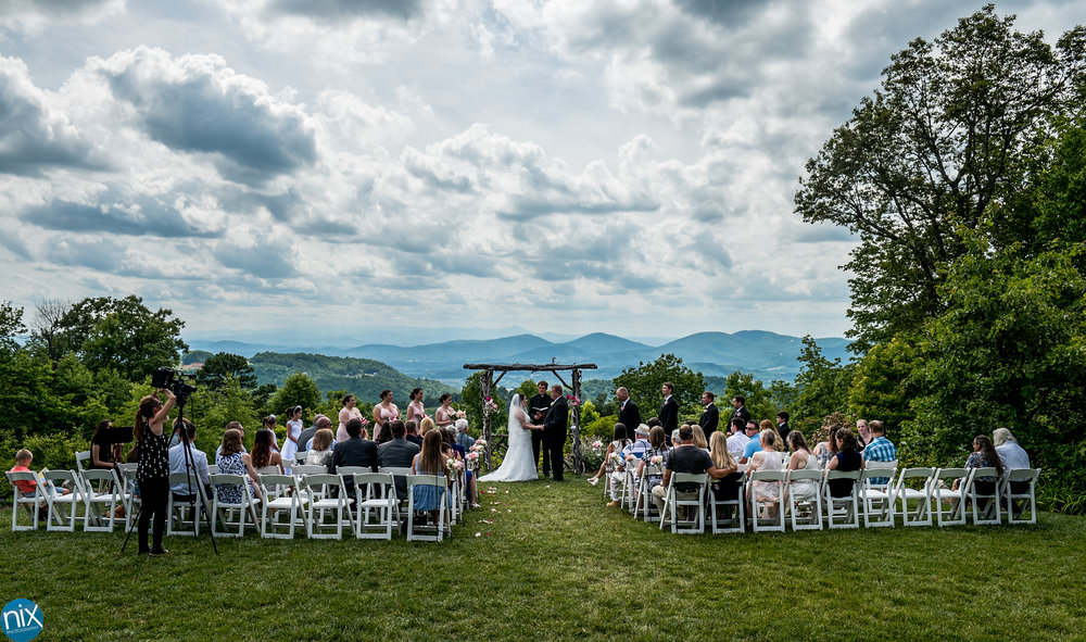 mountain wedding ceremony at the cabin ridge.jpg
