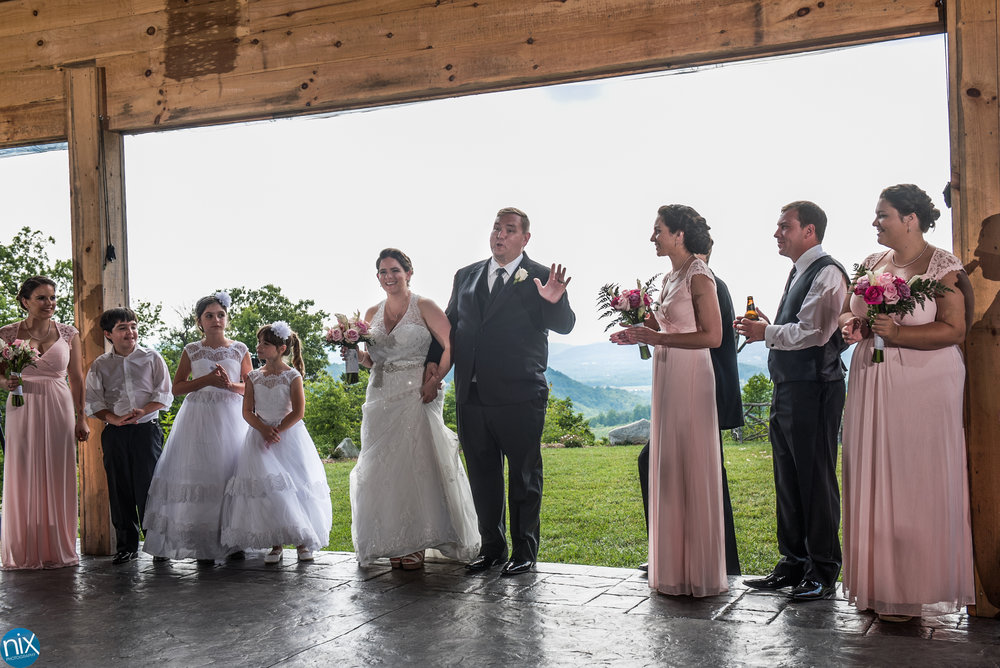 bride and groom introduced at cabin ridge.jpg