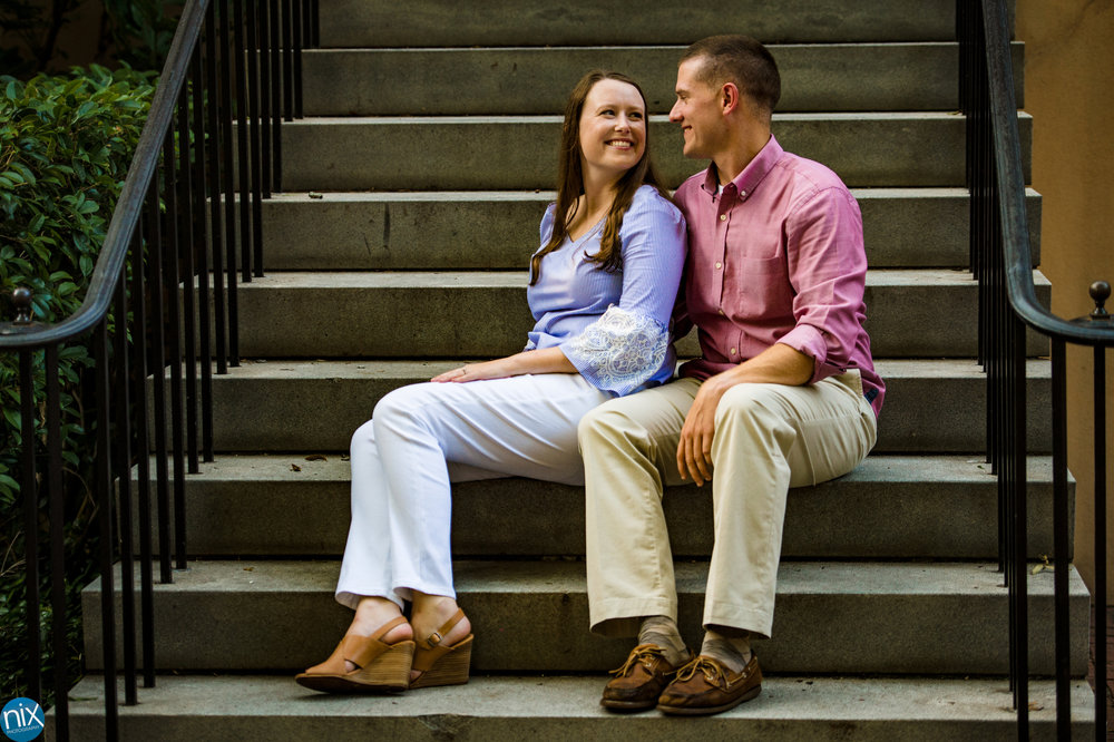 USC_engagement_couple_sitting_on_steps.jpg