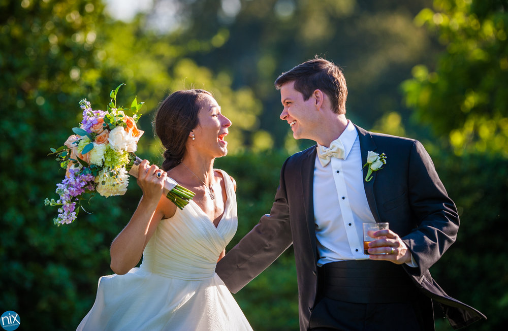 bride and groom are introduced at Daniel Stowe Botanical Garden.jpg